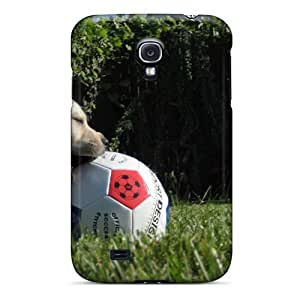Premium FptqcAT139ewYur Case With Scratch-resistant/ Grass Soccer Puppies Case Cover For Galaxy S4 by mcsharks