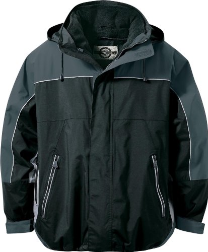 North End Mens Techno Performance 3-in-1 Waterproof Jacket. 88052 - XX-Large - Black / Charcoal / Light - Techno North Performance End