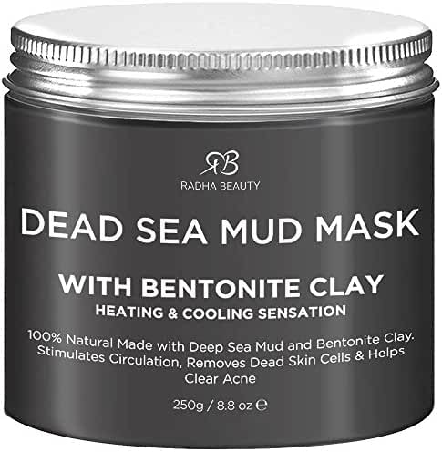 Radha Beauty Dead Sea Mud Mask with Bentonite Clay 8.8 oz - New Improved Formula