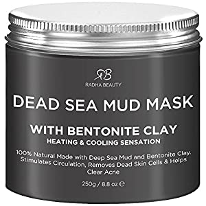Radha Beauty Dead Sea Mud Mask with Bentonite Clay for Face & Body 8.8 oz - 100% Natural Formula to Treat Acne, Pores… 3
