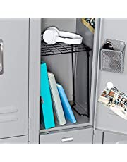Honey-Can-Do SHF-03494 Freestanding Folding Locker Shelf, 11 by 9.25 by 12.75-Inch, Black