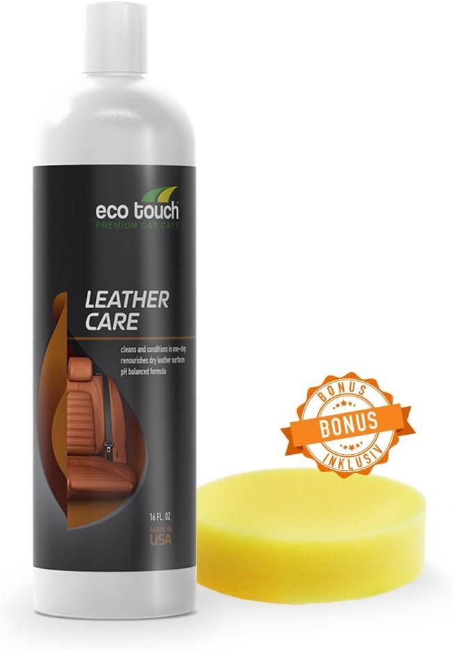 Cuidado del cuero del automóvil, limpiador del automóvil con esponja, incoloro para el sofá de cuero, asientos del automóvil, para cuero real, sintético, suave, combinado; crema alta con impregnado