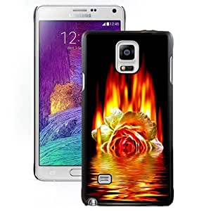 New Personalized Custom Designed For Samsung Galaxy Note 4 N910A N910T N910P N910V N910R4 Phone Case For Burning Rose In The River Phone Case Cover