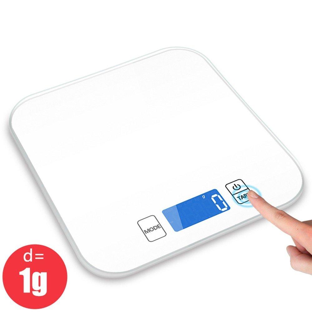 Fazycai Báscula de Cocina Escala De Cocina De Precisión Digital (15Kg/1G) Diseño Ultrafino para El Hogar, Básculas De Cocina, Blanco: Amazon.es