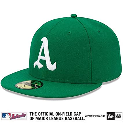 low priced f4a46 5bf49 Amazon.com   Oakland Athletics Authentic Collection 1969 Turn Back The  Clock On-Field 59FIFTY Game Cap   Sports Fan Baseball Caps   Sports    Outdoors