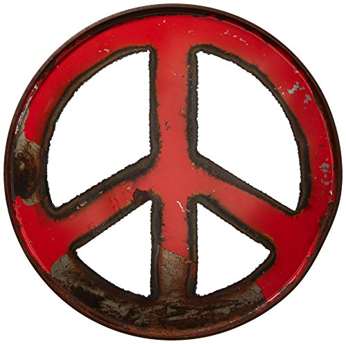 GROOVYSTUFF Red Ruby Groovy Barrel Art Peace Sign