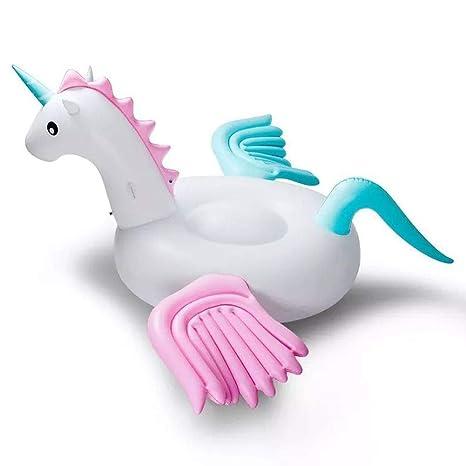 JF Flotante hinchables inflables Arco Iris Gigante Unicornio niños ...