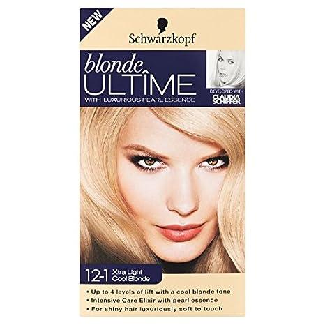 Schwarzkopf Blonde ultime 12 - 1 Xtra de luz de luz fría Rubio 142 ml: Amazon.es: Salud y cuidado personal