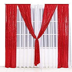 Red Sequin Backdrop Curtain