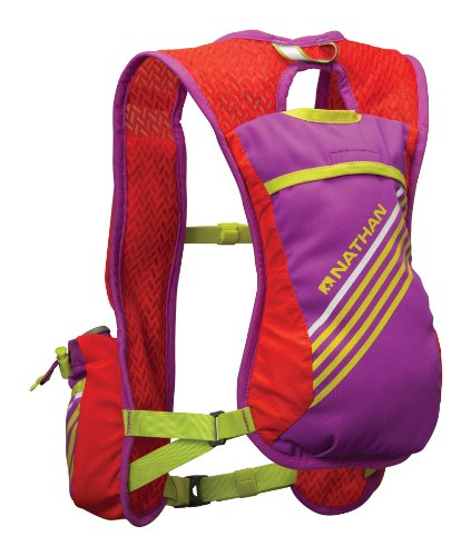 Nathan Firecatcher Hydration Vest, Purple Cactus Flower/Tangerine Tango, One Size ()