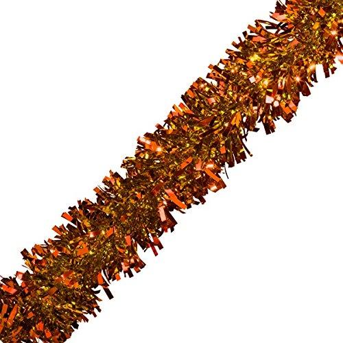 Orange Garland (TCDesignerProducts Orange Metallic Twist Garland - 4