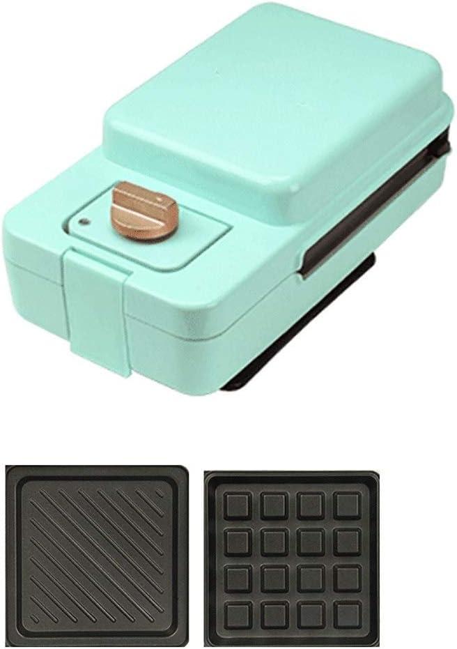DWLXSH Waffles eléctrica Fabricante de Hierro sandwichera con Placas Desmontables Antiadherente 650W (Sandwich Tostadora), Guay Mango Touch, Apto for lavavajillas (Color : Green)