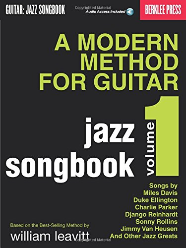 A Modern Method for Guitar - Jazz Songbook, Vol. 1 Bk/online audio