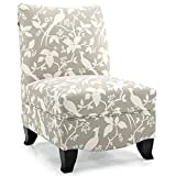 DHI Contemporary Donovan Collection Slipper Side Chair (Platinum) For Sale
