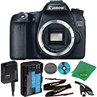 Canon EOS 70D 20.2 MP Digital SLR with Dual Pixel CMOS AF Full HD 1080p Video with Movie Camera Body (NO LENS)
