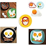 Spiegeleiform 5er Set; Eule, Kaninchen, Sonne, Mensch, Totenkopf; für Kinder & Familie; Pfannkuchen Form, Backform, Spiegeleierform