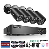 ANNKE 8-Channel Security Camera System HD-TVI 1080P Lite Video DVR and (4)...