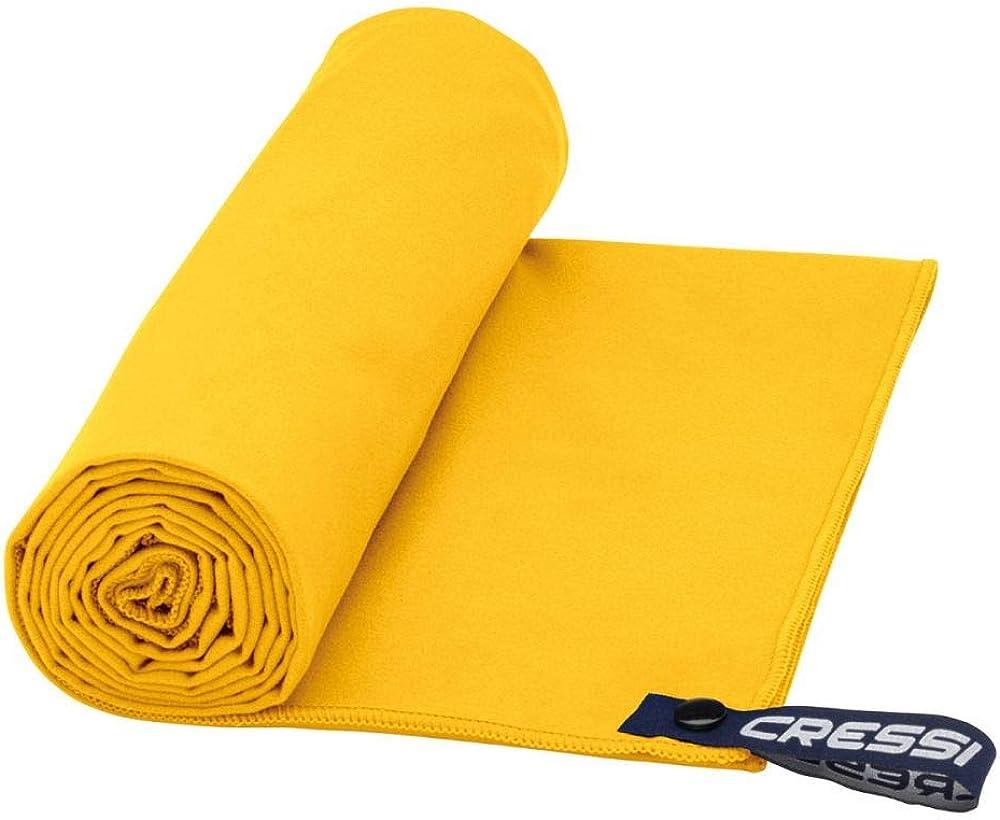 160 x 80 cm Amarillo Cressi Microfibre Fast Drying Beach Toalla de Sport y de Playa Unisex Adulto