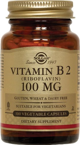 Solgar - Vitamine B2, 100 mg, 100 capsules végétariennes