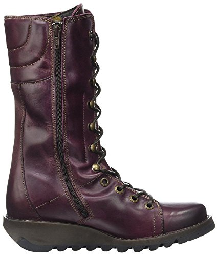 Stivaletti Mid-line Donna In Pelle Viola Londra Ster768fly -37