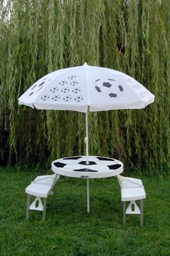 Cool Coolers Soccer Table/Umbrella Set Folding