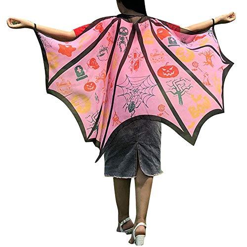 Homemade Dead School Girl Halloween Costumes - LOKODO Unisex Halloween Print Bat Shawl