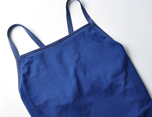 SYROKAN - Bañador Deportivo Traje de Baño Atlético de Una Pieza Para Mujer Azul marino