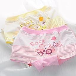 Aivtalk Baby Girls Soft Cotton Breathable Briefs Underwear Training Pants 2 Piece