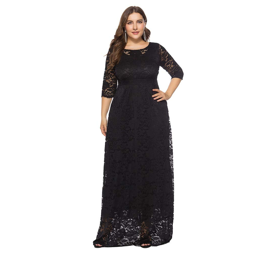 Cocktail Dresses For Women Plus Size Floral Lace Formal Swing Dress Liraly