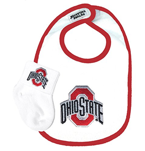 Future Tailgater Ohio State Buckeye Baby Bib and Socks Set ()
