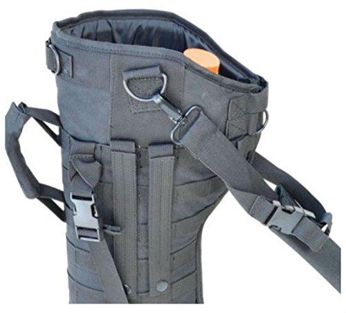 (Black Tactical Rifle Shotgun Scabbard MOLLE Shoulder Sling Padded Case Horse ATV)