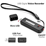 Mini Portable Multifunctional Rechargeable Digital Spy Voice Recorder OTG phone U disk  Computer USB 3 In 1 Flash Drive