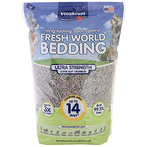 Vitakraft Fresh World Ultra Strength Paper Bedding & Litter for Small Animals and Birds, 975 Cubic inches (16 L)