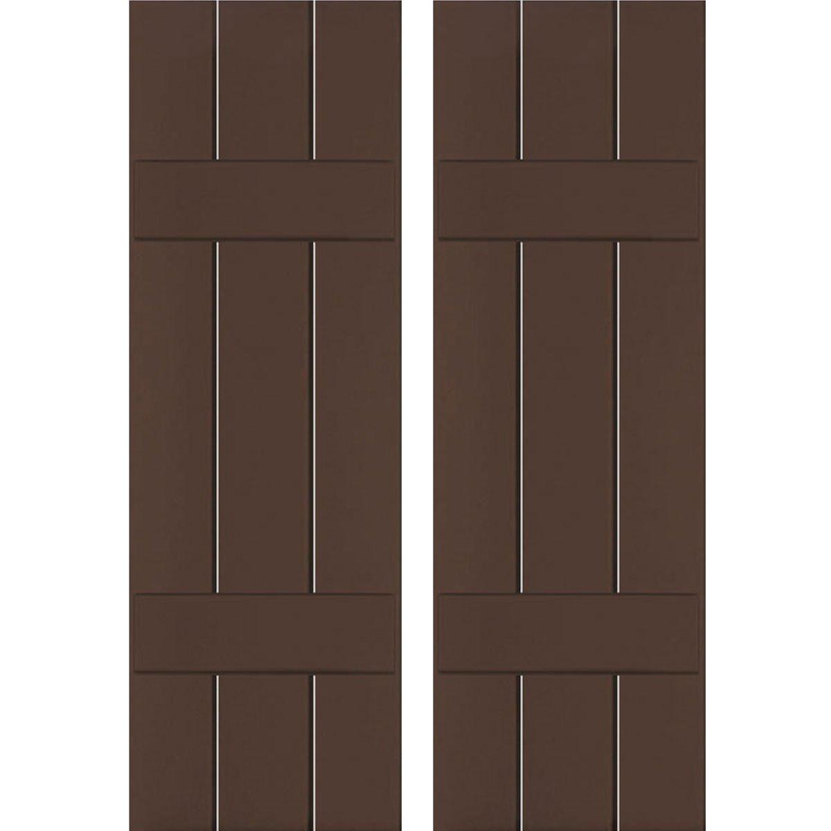 Ekena Millwork RWB12X042TBW Exterior Three Board