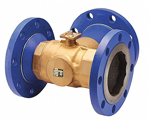 (3-Way HVAC Control Ball Valve, Valve Only, Flanged, Coefficient of Volume 348.0)