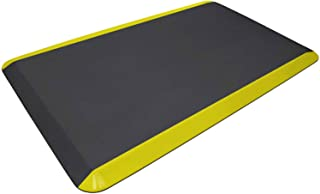 "product image for NewLife Eco-Pro Anti Fatigue Mat, 36"" x 24"", Yellow Safety Stripe"