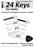 24 Keys Scales and Arpeggios for Violin - Book 1, Richard Moran, 1446116182