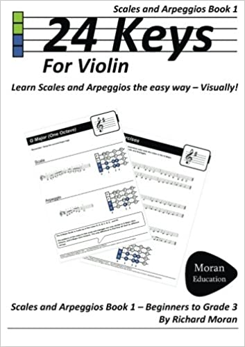 24 Keys Scales And Arpeggios For Violin Book 1 Richard Moran