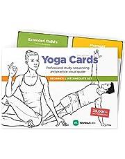 WorkoutLabs YOGA CARDS I & II – Complete set Beginners & Intermediate: Professionele visuele studie, Klasse Sequencing & Practice Guide · Premium Yoga Flash Cards/Yoga Deck met Sanskriet