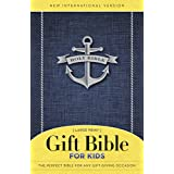 NIV Gift Bible for Kids, Softcover, Large Print, Blue