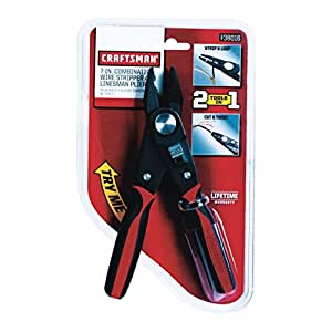 Craftsman 7-inch 2-In-1 Linesman Plier And Wire Stripper