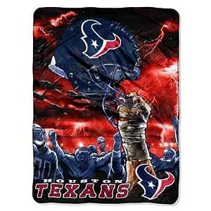 NFL Houston Texans 60-Inch-by-80-Inch Plush Rachel Blanket, Sky Helmet Design