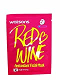 Leaving Sheet Mask Overnight 2 Mask Sheets of Watsons Antioxidant Facial Mask with Red Wine. Which Help Skin Rejuvenation, Leaving You with More Refined and Supple Looking Skin. (21 Ml Essence/ sheet)