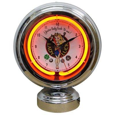 ガスランプネオンクロック レディーラック GAS LAMP NEON CLOCK B077QR9CSH