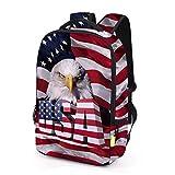 USA Patriotic Backpack - 3D Vivid Design Men/Women/Boys/Girls School & Travel Bag