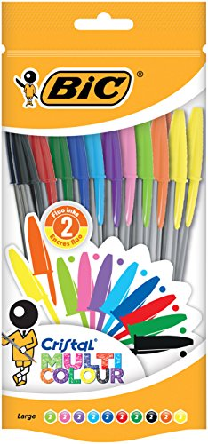 BIC 20 Cristal Multicolour Pen - Assorted Pack of 20