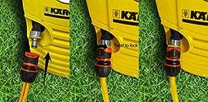 Limpiador a presión manguera Kit de conexión (de arandelas para grifo) 5metros de manguera de 30Bar y 2conectores Lock On