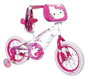 Dynacraft Girl's Hello Kitty Bike (White/Pink, 14-Inch)