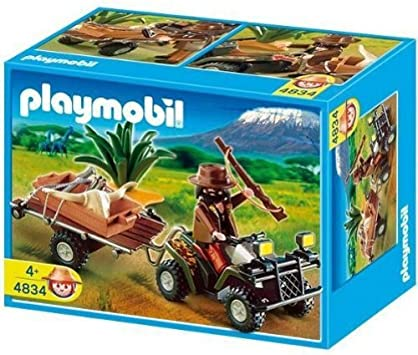 PLAYMOBIL - Selva Cazador Quad Y Remolque (4834): Amazon.es ...