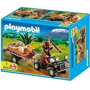 Playmobil - Selva Cazador Quad Y Remolque (4834)